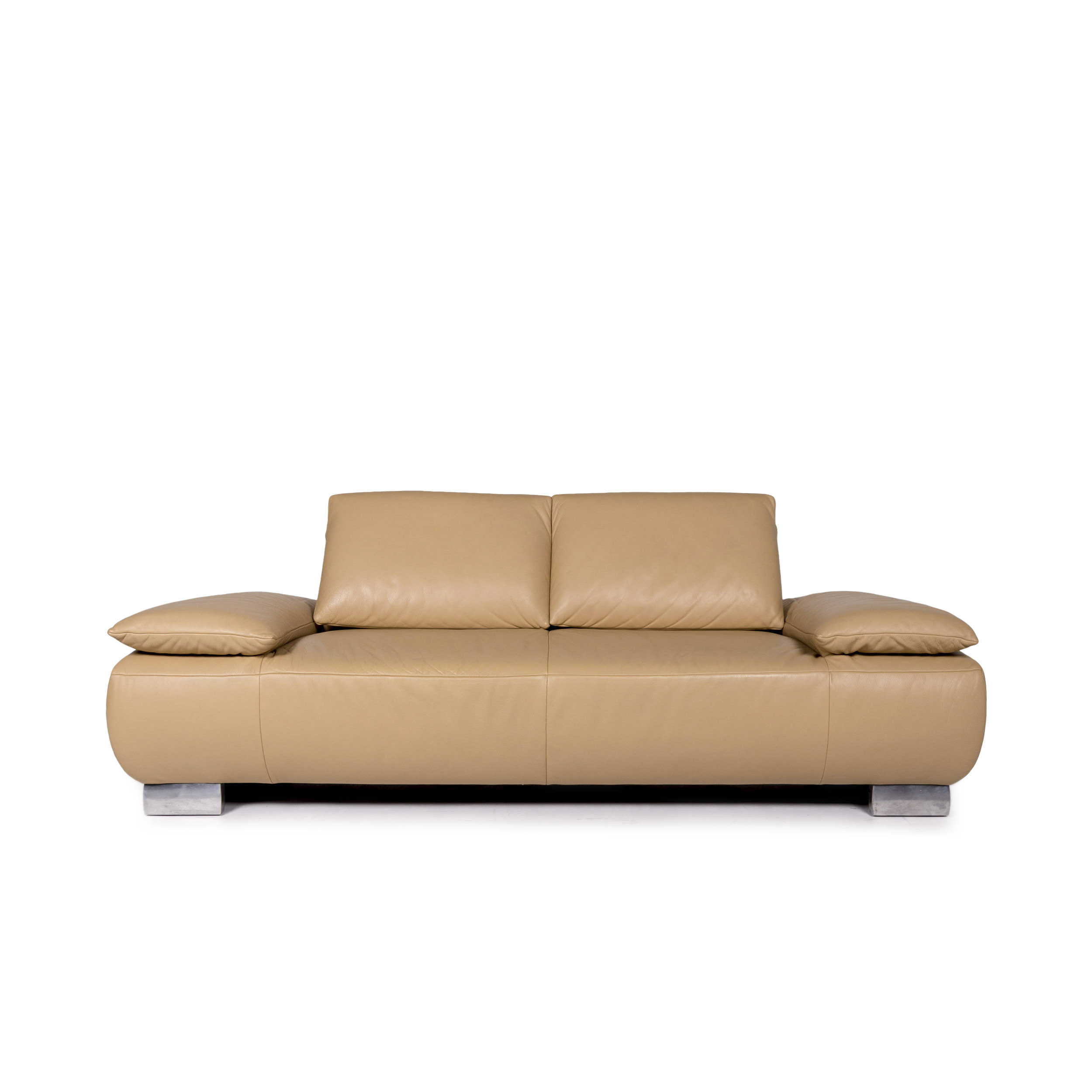 Koinor Volare Leather Sofa Beige Two Seater function couch ...