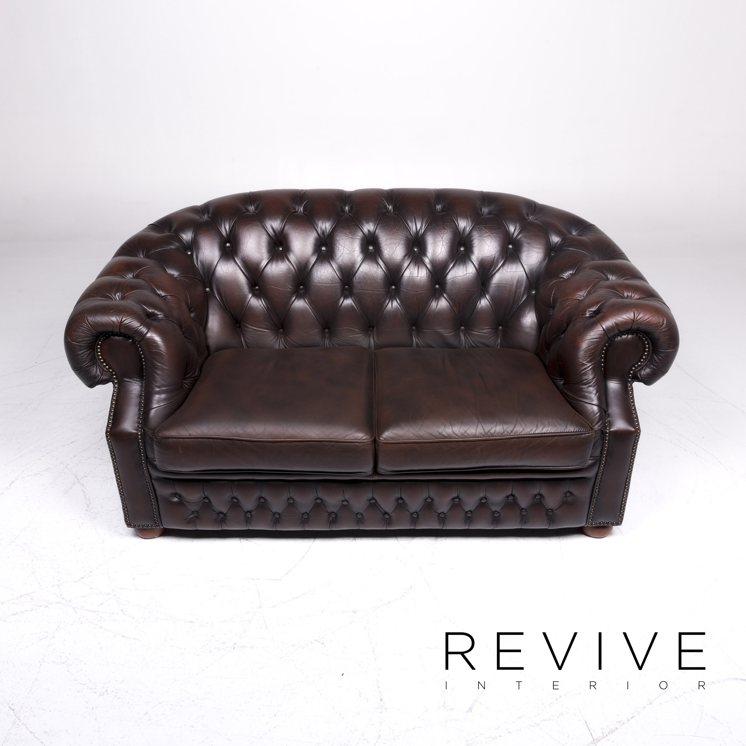 centurion chesterfield leather sofa set brown two seater retro 9270 ebay